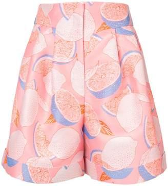 Vika Gazinskaya lemon print shorts