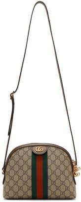 Gucci Brown Small GG Supreme Ophidia Bag