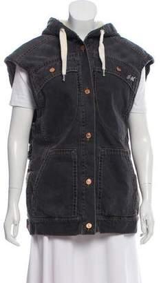Etoile Isabel Marant Button-Up Hooded Vest