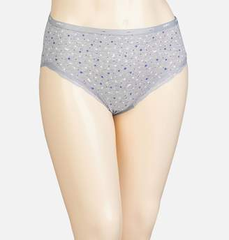 Avenue Moon and Stars Cotton Modern Brief Panty with Lace