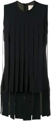 Ports 1961 sleeveless fringed blouse