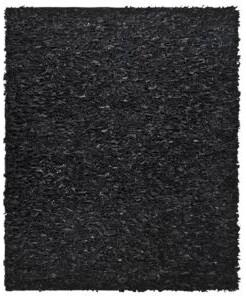 Safavieh Leather Black Shag Rug
