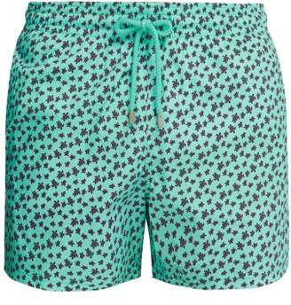 Vilebrequin Moorea Turtle Print Swim Shorts - Mens - Green Multi
