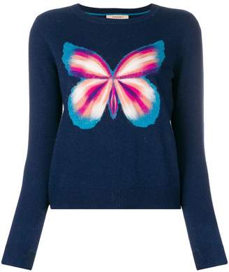 Twin-Set butterfly print jumper