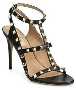 Valentino Rockstud Leather Cage Sandals
