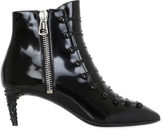 Bally 55mm Mellody Lace-Up Leather Ankle Boots