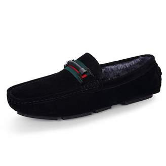 6942aa29907 ALLAK Mens Slip On Loafers Suede Driving Penny Loafer Moccasins Dress Flats  Boat Shoes(