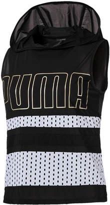 Puma Varsity dryCELL Sheer Sleeveless Hoodie