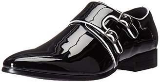 Stacy Adams Men's Valens Plain Toe Double Monk Strap Tuxedo Loafer