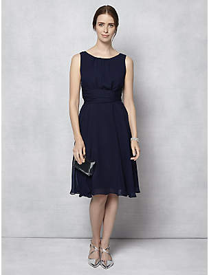 Phase Eight Marti Chiffon Dress, Navy