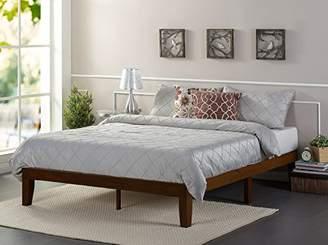 Zinus 12 Inch Wood Platform Bed/No Boxspring Needed/Wood Slat Support/Antique Espresso Finish