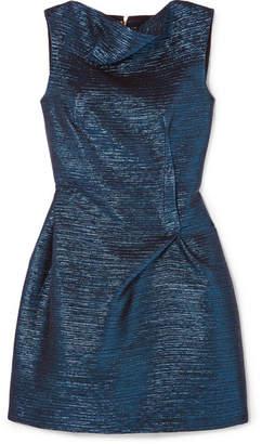 Roland Mouret Zonda Metallic Woven Mini Dress - Blue