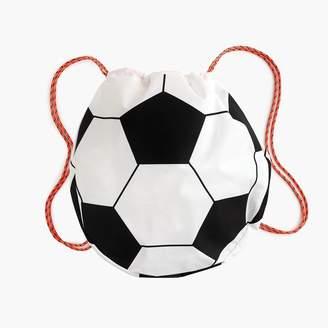 J.Crew Kids' soccer ball-shaped drawstring backpack