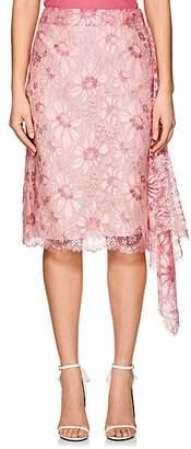 Calvin Klein Women's Floral Lace Draped Wrap Skirt