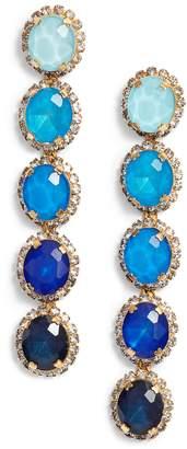 Elizabeth Cole Von Ombre Linear Earrings