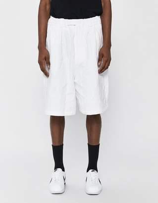 Dima Leu Tailored Oversized Pleated Shorts in White