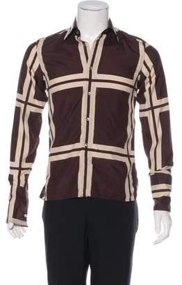 Gucci 2000 Geometric French Cuff Shirt