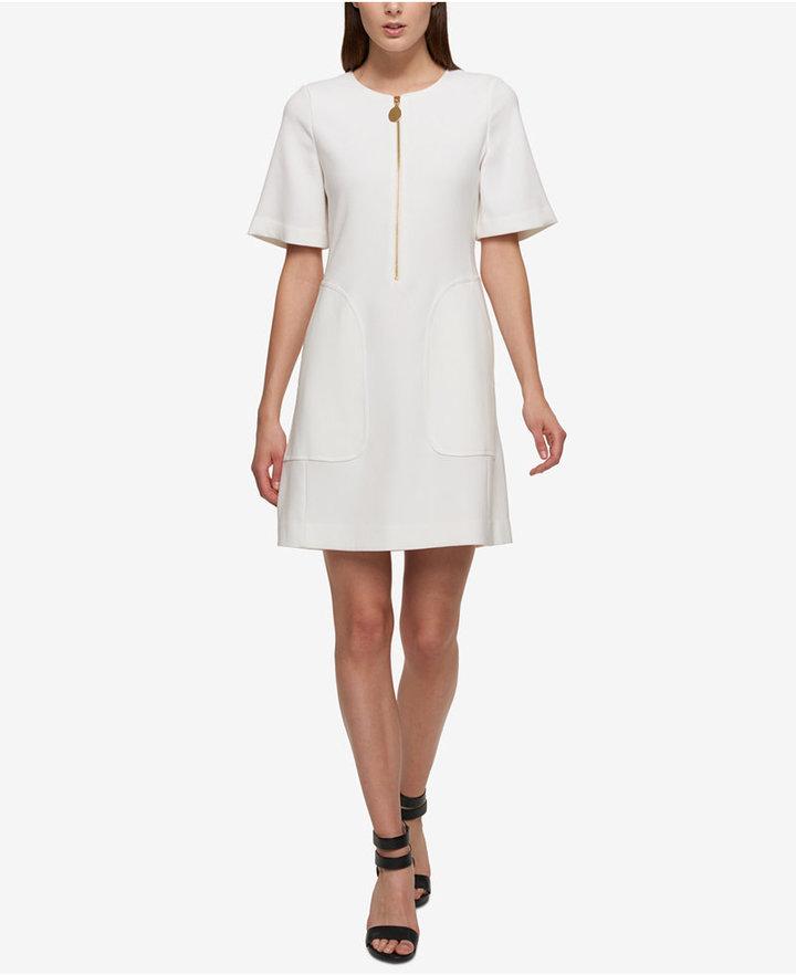 DKNYDKNY Zip-Front A-Line Dress