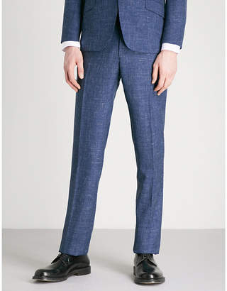 Richard James Slim-fit wool and silk-blend trousers