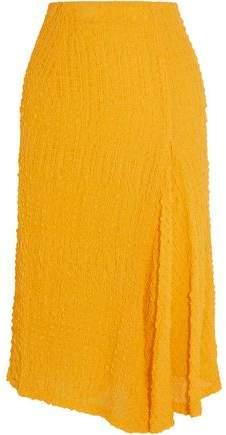 Silk-Seersucker Skirt
