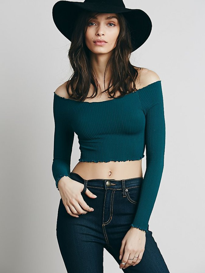 Free People Off The Shoulder Long Sleeve