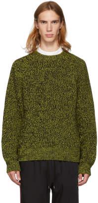 Cmmn Swdn Yellow and Black Toby Raglan Sweater