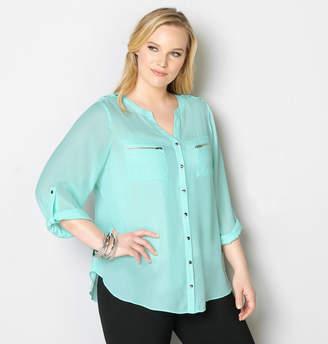 Avenue Zipper Pocket Equipment Shirt