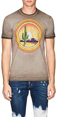 DSQUARED2 Men's Logo-Desert-Graphic Distressed Cotton T-Shirt