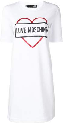 Love Moschino glitter print jersey dress