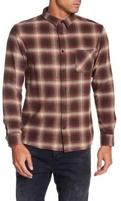 Quiksilver Front Button Plaid Modern Fit Shirt