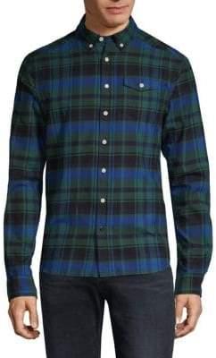 Scotch & Soda Checkered Cotton Button-Down Shirt
