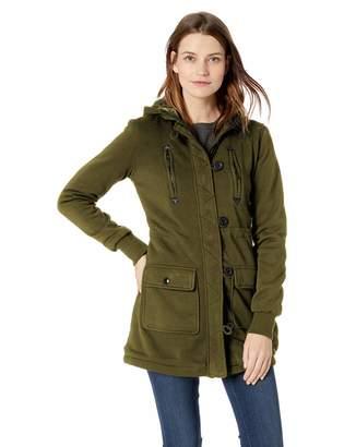 Yoki Women's Multi Pocket Long Fleece Jacket Outerwear