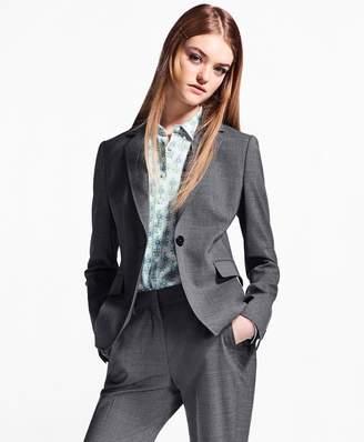 Brooks Brothers Melange Stretch-Wool Jacket