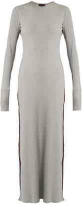 ALBUS LUMEN Porto cotton-blend ribbed-jersey maxi dress