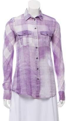 Burberry Printed Button Up Shirt