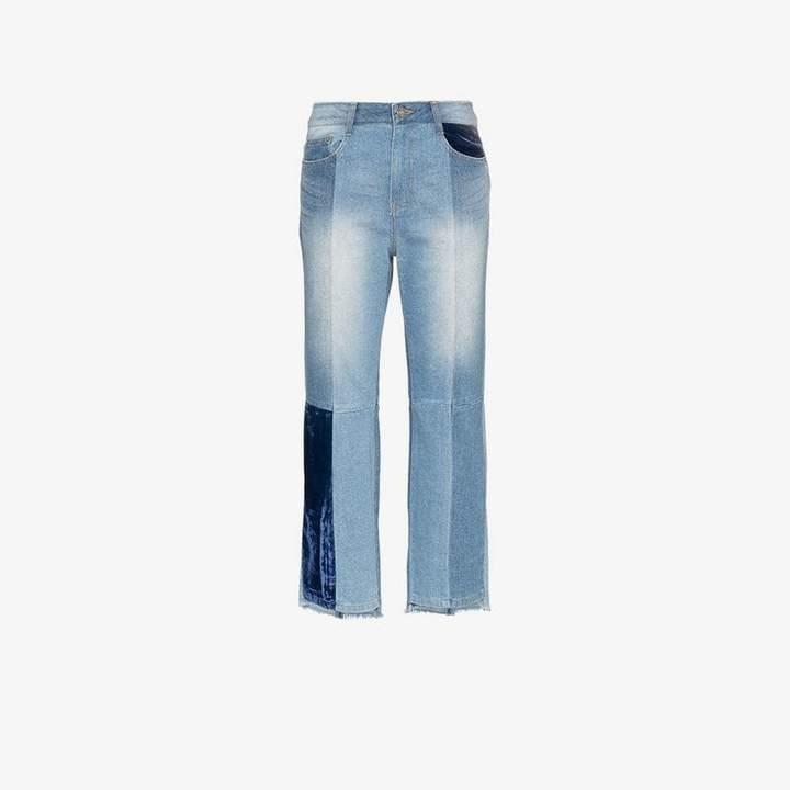 velvet patch tomboy jeans