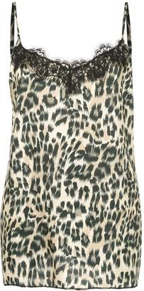 Icons leopard slip top