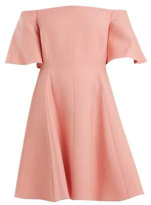 Valentino Off-shoulder silk-crepe dress