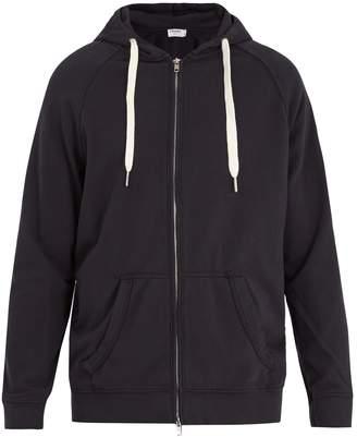 Frame Zip-through hooded cotton sweatshirt