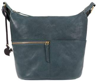 048875f1b99f at Debenhams · Conkca London - Denim  Kristin  Handcrafted Leather Cross-Body  Bag