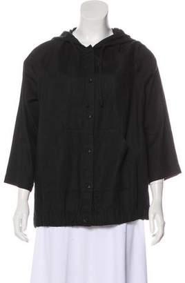 Eileen Fisher Linen Hooded Jacket