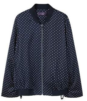 Violeta BY MANGO Polka dot bomber jacket