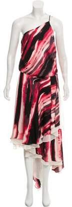 Halston Silk Midi Dress