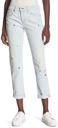 Rag & Bone Ankle Dre High Rise Paint Splatter Jeans