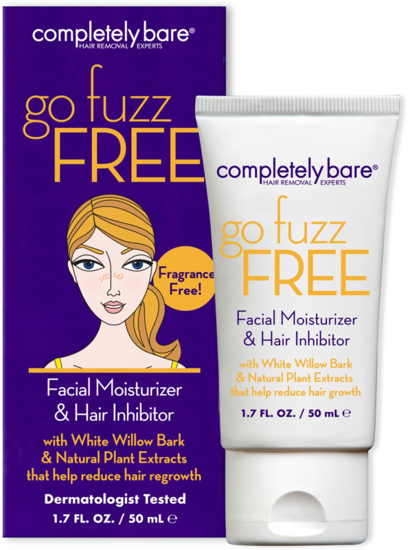 Completely Bare Go Fuzz Free Facial Moisturizer and Hair Inhibitor