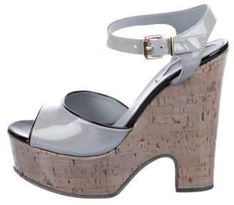 Fendi Patent Platform Sandals