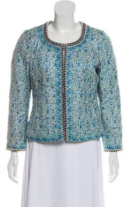 Talitha Collection Embellished Quilted Silk Jacket w/ Tags