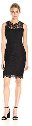 Calvin Klein Women's Sleeveless Lace Sheath Dress