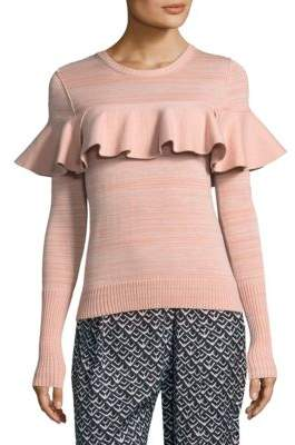Apiece Apart Ruffle Front Sweater