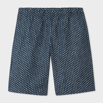 Men's Navy Textured-Cotton 'Painted Dot' Print Shorts $210 thestylecure.com
